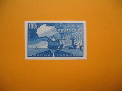 Timbre Non Dentelé  N° 121  10 ème Anniversaire De La A.S.E.C.N.A.  1970 - Central African Republic