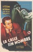 LA CALLE SIN NOMBRE - MARK STEVENS - RICHARD WIDMARK - Afiches & Pósters