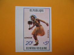 Timbre Non Dentelé  N° 139  Danses Traditionnelles  1971 - Central African Republic