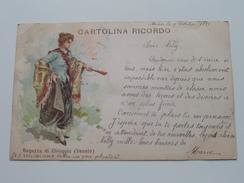 CARTOLINA RICORDO Ragazza Di CHIOGGIA ( Veneto ) Anno 1899 ( Zie Foto Details ) !! - Italia
