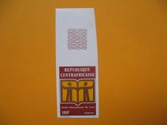 Timbre Non Dentelé  N° 164  Année Internationale Du Livre  1972 - Central African Republic