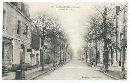CPA THOUARS, L'AVENUE DE LA GARE, DEUX SEVRES 79 - Thouars