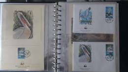 Belle Collection 2/4 Philatélique En étui Du WWF Dont Timbres **, Enveloppes 1er Jour, Cartes Maximums... Pas Commun !!! - Collections (with Albums)