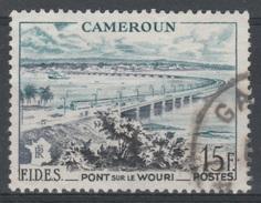 French Cameroon, Bridge Over Wouri River, 1956, VFU - Cameroun (1915-1959)