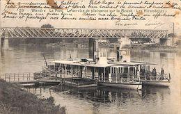 Wandre - Le Pont - Le Service De Plaisance Sur La Meuse - Les Hirondelles (animée, 1923) - Herstal