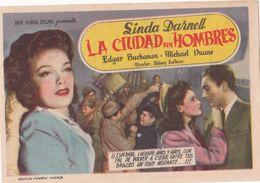 LA CIUDAD SIN HOMBRES - LINDA DARNELL - EDGARD BUCHANAN - MICHAEL DUANE - SIDNEY SALKOW - Afiches & Pósters