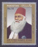 PAKISTAN 2017 MNH - Sir Syed Ahmed Khan 200th Birth Anniversray, 1v - Pakistan