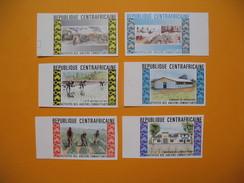 Timbre Non Dentelé  N° 222 à 227  Activités Des Anciens Combattants 1974 - Centrafricaine (République)