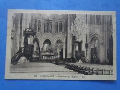 74-ABONDANCE Intérieur De L'église , écrite Au Verso Et Circulée En 1933 , 2 Scans - Abondance