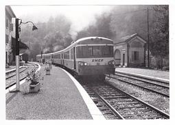 06 Drap Cantaron Vers La Trinité PHOTO Originale Train Autorail SNCF à Quai En Gare Le 22 Octobre 1979 VOIR DOS - Trains