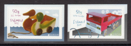 Iceland 2015 MNH Set Of 2 Booklet Singles Children's Toys EUROPA - 1944-... Republic