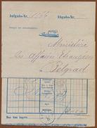 SERBIA-AUSTRIA, DDSG AUSTRIAN SHIPPING POST OFFICE IN BELGRADE 1870 RARE!!!!!!!!!! - Briefe U. Dokumente