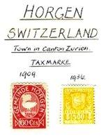 SWITZERLAND, Horgen, */o M/U, F/VF - Fiscaux