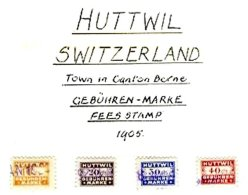 SWITZERLAND, Huttwil, Used, F/VF - Fiscaux