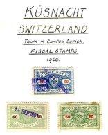 SWITZERLAND, Küsnacht, Used, F/VF - Fiscaux
