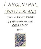 SWITZERLAND, Langenthal, Used, F/VF - Fiscaux
