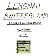 SWITZERLAND, Lengnau, Used, F/VF - Fiscaux