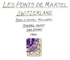 SWITZERLAND, Les Ponts De Martel, Used, F/VF - Fiscaux