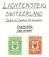 SWITZERLAND, Lichtensteig, * MLH, F/VF - Fiscaux