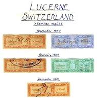 SWITZERLAND, Luzern, Used, F/VF - Fiscaux