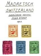 SWITZERLAND, Madretsch, */o M/U, F/VF - Fiscaux