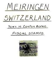 SWITZERLAND, Meiringen, Used, F/VF - Fiscaux