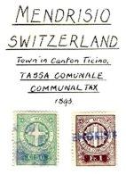 SWITZERLAND, Mendrisio, Used, F/VF - Fiscaux