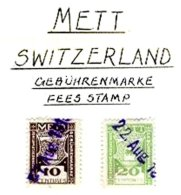 SWITZERLAND, Mett, Used, F/VF - Fiscaux
