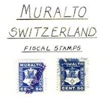 SWITZERLAND, Muralto, Used, F/VF - Fiscaux