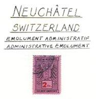 SWITZERLAND, Neuchâtel, Used, F/VF - Fiscaux