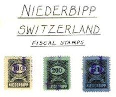 SWITZERLAND, Niederbipp, Used, F/VF - Fiscaux