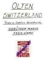 SWITZERLAND, Olten, Used, F/VF - Fiscaux