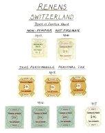 SWITZERLAND, Renens, */o M/U, F/VF - Fiscaux