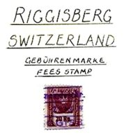 SWITZERLAND, Riggisberg, Used, F/VF - Fiscaux
