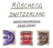 SWITZERLAND, Rüschegg, Used, F/VF - Fiscaux