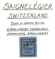 SWITZERLAND, Saignelégier, Used, F/VF - Fiscaux