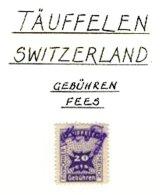 SWITZERLAND, Täuffelen, Used, F/VF - Fiscaux
