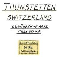 SWITZERLAND, Thunstetten, Used, F/VF - Fiscaux