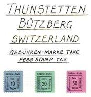 SWITZERLAND, Thunstetten-Bützberg, Used, F/VF - Fiscaux