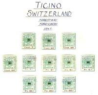 SWITZERLAND, Ticino, */o M/U, F/VF - Fiscaux