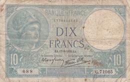 FRANCE BILLET DE 10 FRANCS MINERVE DE 1939 ALPHABET / G.71065 - 1871-1952 Gedurende De XXste In Omloop
