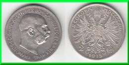 **** AUTRICHE - AUSTRIA - 2 CORONA 1913 FRANZ JOSEPH I - ARGENT - SILVER **** EN ACHAT IMMEDIAT - Autriche