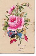 """"""" Hommage  Aux  Allies  """"  Roses  Avec  Drapeaux   Varies - Weltkrieg 1914-18"""
