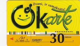 Latvia, LV-LMT-OKA-0002, OKarte 30 (Logo On Back), 2 Scans. - Latvia
