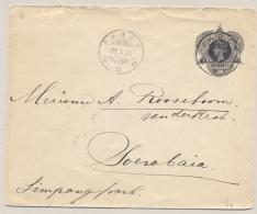 Nederlands Indië - 1911 - 10 Cent Envelop Van KB PAREE Via GR DJOMBANG Naar KB Soerabaja - Nederlands-Indië