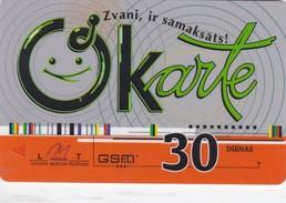 Latvia, LV-LMT-OKA-0006A, OKarte 30, 2 Scans. - Latvia