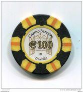 """Jeton De Casino """"100€ Euro Casino Barrière Trouville"""" French Casino Token - Casino"""