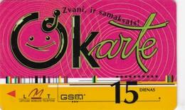 Latvia, LV-LMT-OKA-0001, OKarte 15 (Logo On Back), 2 Scans. - Latvia