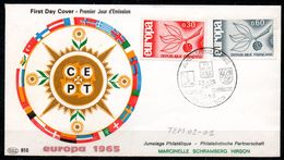 TEM02-01 : Dept 02 (Aisne) HIRSON 1965 > Jumelage Philatélique MARCINELLE SCHRAMBERG HIRSON - Marcofilie (Brieven)