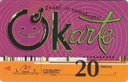 Latvia, LV-LMT-OKA-0005B, OKarte 20, 2 Scans. - Latvia